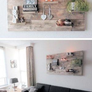 Eco design mensola da parete in legno di riuso Ben