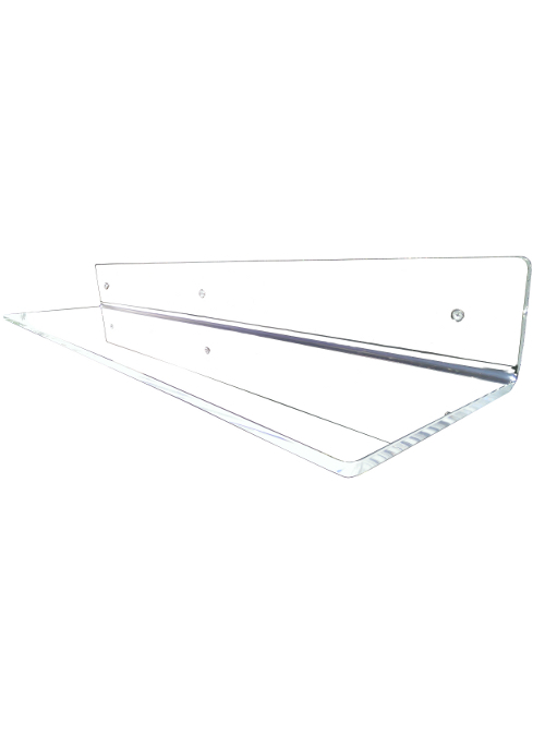 Mensola da muro in plexiglass trasparente di design xlab for Arredamento mensole a parete