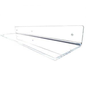 Mensola da muro in Plexiglass trasparente L60cm