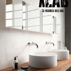 Mensola piano lavabo legno massello Nichole
