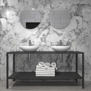 Mobile bagno in ferro Design moderno minimalista Nadja