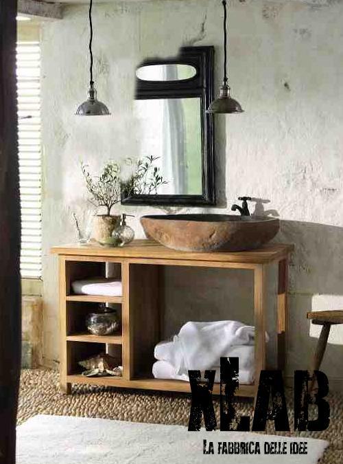 Mobile bagno in legno American Style