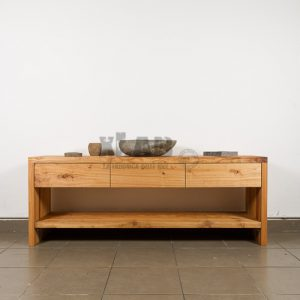 Mobile da bagno in legno listellare massello trattamento olio Chloe