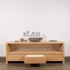 Mobile bagno in listellare massello con cassetti design minimal Scarlett