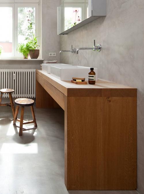 Mobile da bagno artigianale in legno massello liz xlab for Mobile bagno minimal