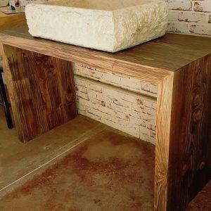 Mobile da bagno legno massello rustico Raffy
