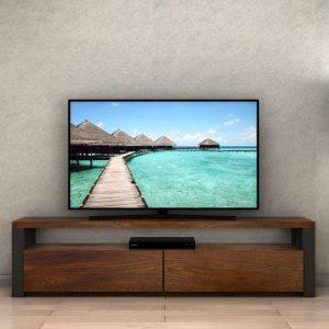Mobile porta tv in legno listellare di castagno Fred