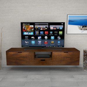 Mobile porta TV in legno listellare di noce nazionale Joe
