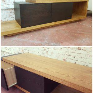 Mobile porta TV in legno massello Black Block