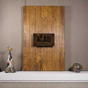 Mobile porta TV a parete in legno rustico Wonderwall