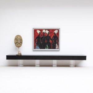 Consolle in plexiglass e legno con cassetto Elegant