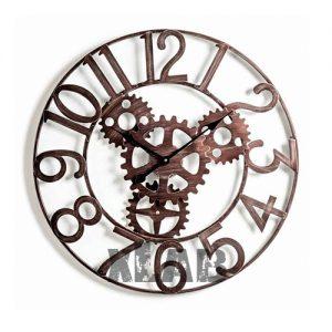 Orologio da parete in ferro con ingranaggi Engine