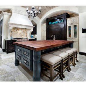 Elegance piano Top per cucina in legno massello