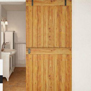 """Barn Door, porta scorrevole design in legno massello, """"Polie"""""""