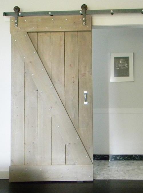 porta scorrevole in legno massello barn doors binario ferro