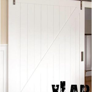 Porta scorrevole barn door binario esterno white Roland