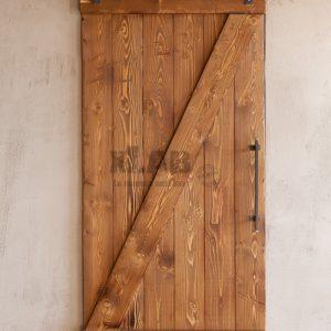 Porta scorrevole rustica in legno Cloud