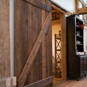 Porta scorrevole legno grezzo stile industriale Sean