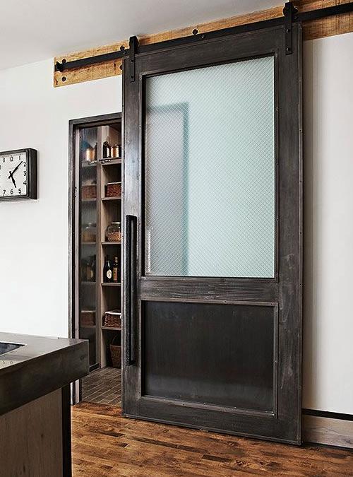 Porta scorrevole da interno con vetro e legno Rand