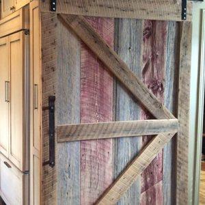 Porta scorrevole stile fienile legno di riciclo Sid