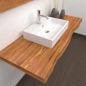 Mensola per lavabo da bagno effetto rustico scegli la misura Nikki