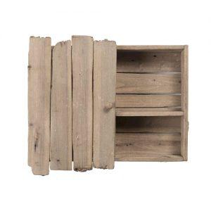 Scaffale da baita in legno di riciclo, Ginepro