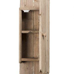 Scaffale piccolo baita da parete in legno di riciclo Burt