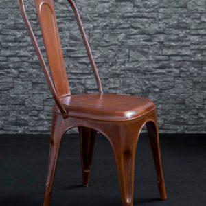 Set di 4 sedie in ferro modello Rust colore effetto ruggine