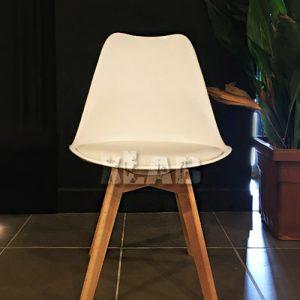 Set di 4 sedie bianche con seduta imbottita modello White