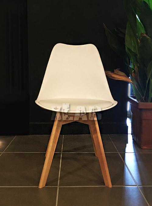 Set 4 sedie in ecopelle bianco stile moderno Steve Xlab