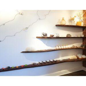 Composizione mensole libreria da parete massello
