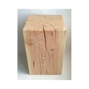Sgabello tavolino Tronco legno castagnetto grezzo Renoir