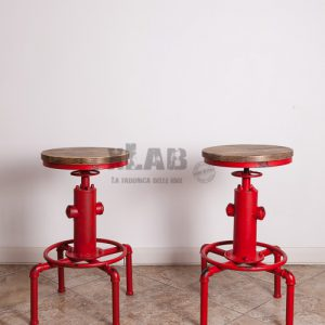 Sgabello da bar idrante stile industriale vintage New York City