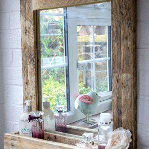 Specchio da bagno mensola portaoggetti vintage Afrodite