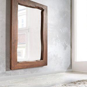 Specchio da bagno con cornice in legno Calliope