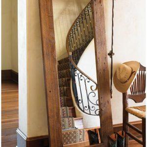 Specchio da terra cornice in legno massello Calipso