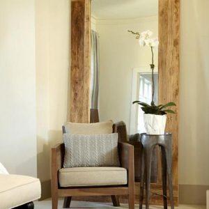 Specchio da terra cornice in legno massello Demetra