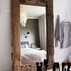 Specchio vintage legno massello invecchiato Iride