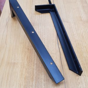 Coppia di staffe reggimensola in ferro per mensole e piano lavabo sospesi