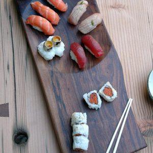Vassoio da cucina in legno massello Sushi