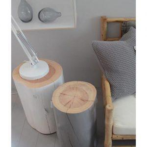 Coppia di tronchi tavolini da salotto Carrà