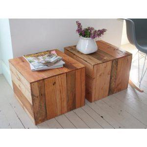 Tavolino da salotto cubo in legno massello ciliegio Kandinskij