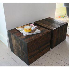 Tavolino da salotto cubo in legno massello mogano Modigliani