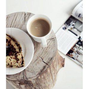 Tavolino tronchetto breakfast coffee Caravaggio