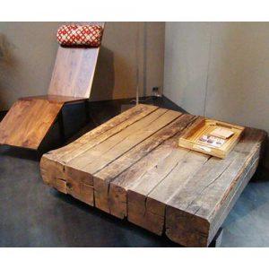 Tavolino legno castagno massello vintage Hale
