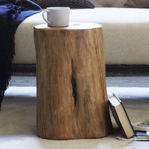 Tronco tavolino da salotto Vermeer in legno massello