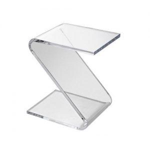 Tavolino porta riviste in plexiglass Boccioni