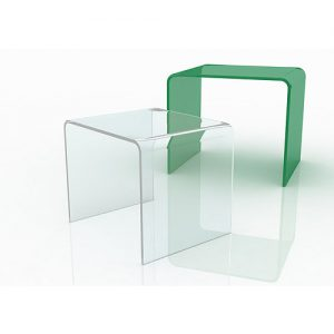 Tavolino a ponte in plexiglas trasparente Turner