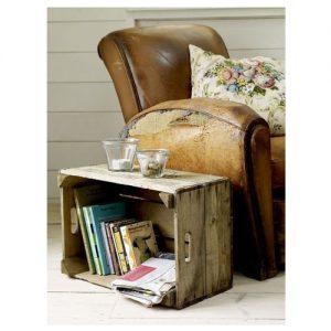 Tavolino legno vintage cassetta frutta Cezanne