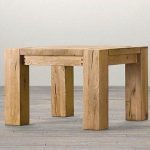 Tavolino quadrato da salotto castagno Corot